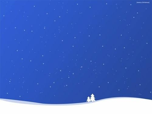 Blue Winter Christmas Desktop Background