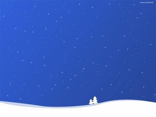 Blue Winter Christmas Desktop Background