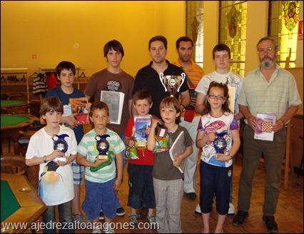 "Premiados del I Torneo de Ajedrez ""Casino Jaque 2010""."