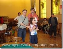 Lidia Viñuales con el trofeo de subcampeona