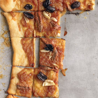 Caramelized-Onion Tart with Olives