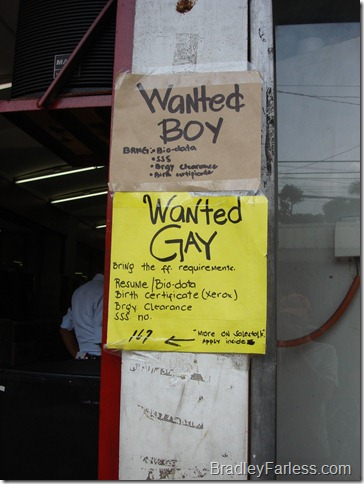 Boys and Gays Wanted