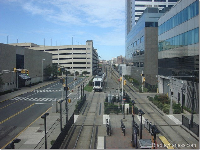 The Light Rail in New Jersey, Newport / Pavonia area.