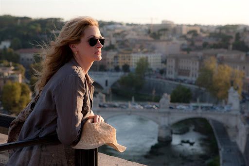 Juia Roberts is Liz Gilbert in Eat Pray Love