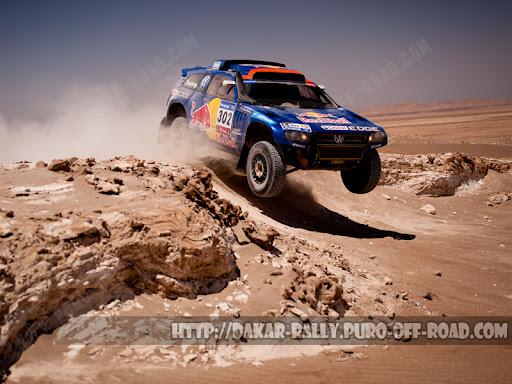 Volkswagen Touareg 3 Dakar. Volkswagen maintained lead
