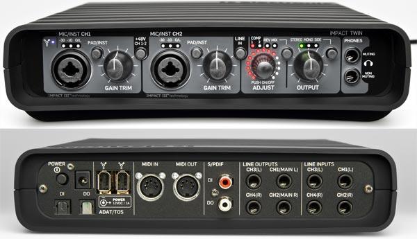 TC Electronic Impact Twin Firewire audio interfész
