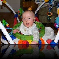 Dean: Happy in the exersaucer