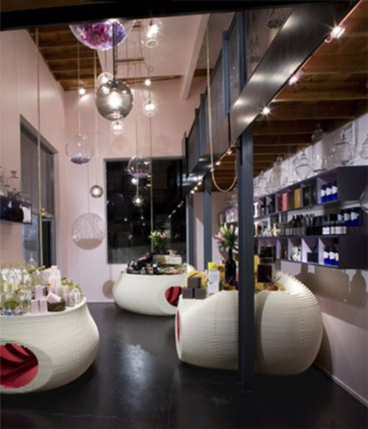 retail design santa monica apothecary decor