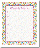 Weekly Menu - PURPLE - Sprik Space