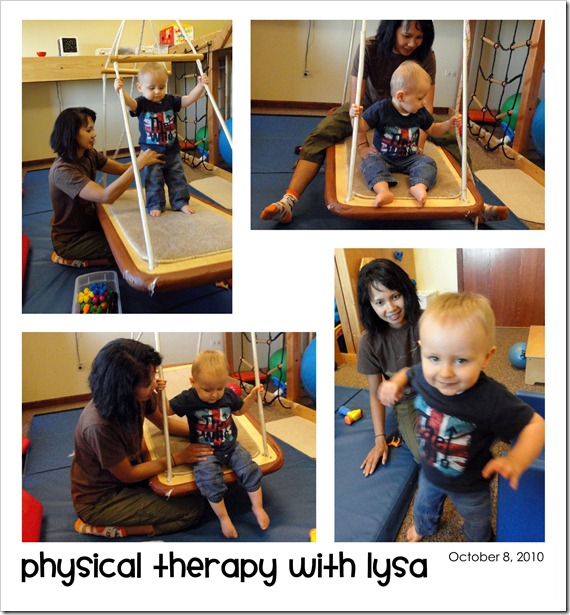 Physical Therapy with Lysa - October 8, 2010