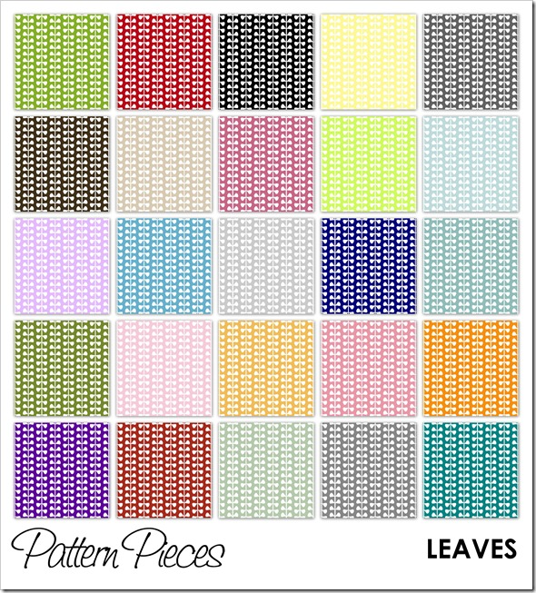 IMAGE - Pattern Pieces - Leaves