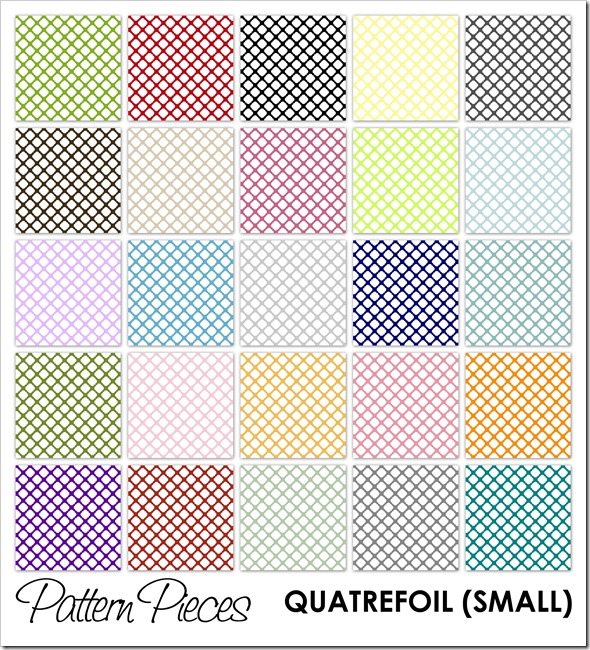 IMAGE - Pattern Pieces - Quatrefoil (Small)