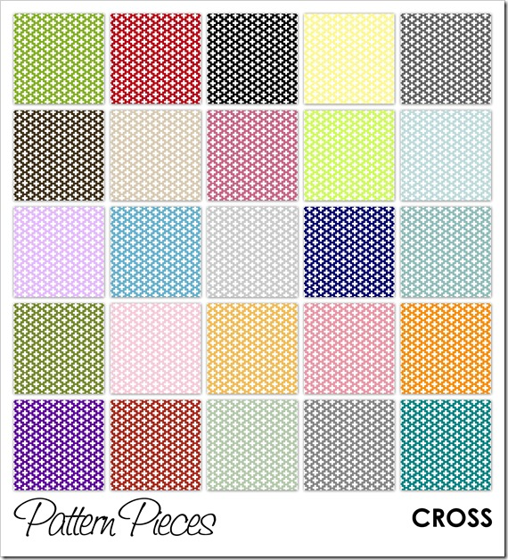 IMAGE - Pattern Pieces - Cross