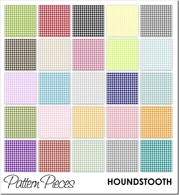 IMAGE - Pattern Pieces - Houndstooth
