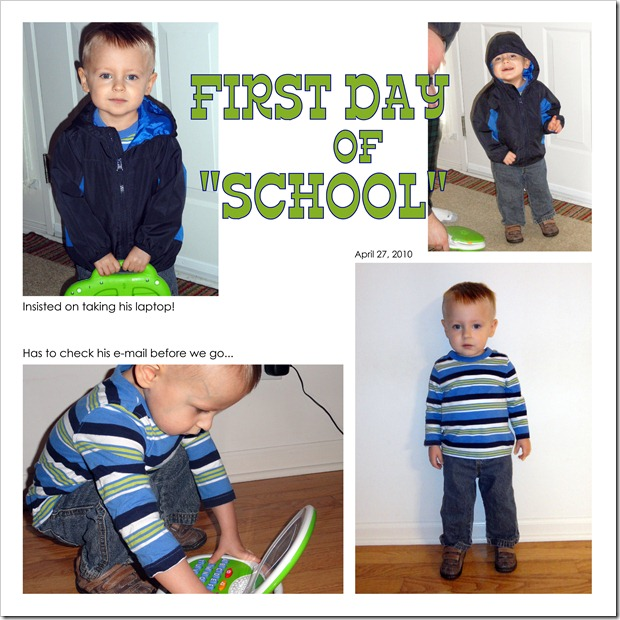 First Day of School - April 27, 2011
