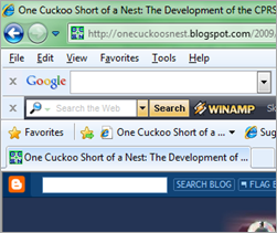favicon in IE8 Beta screenshot