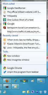 IMAGE: Taskbar default right click menu