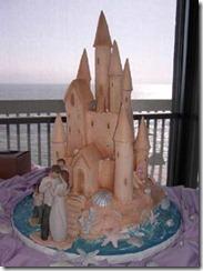 Fairytale Sandcastle Beach Wedding Cake