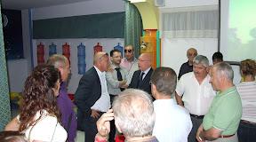 il sindaco De Miccolis e Mimmo Pignataro a colloquio