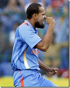 yusuf after taking wicket