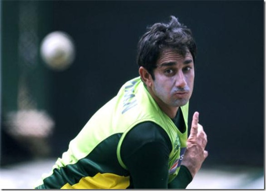 Saeed Ajmal at-ICC-World-Cup-2011