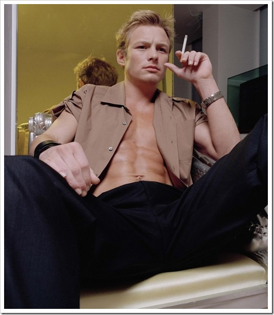Adam Rickitt shirtless