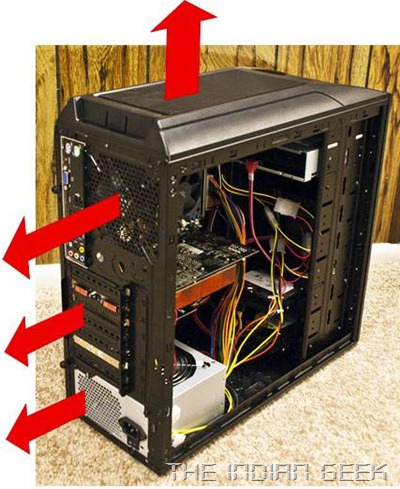 Ventilation requirements for a PC chassis case