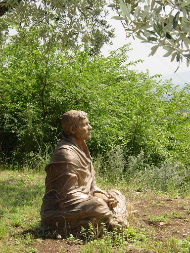 A statue of Francis found near the Church of San Damiano just down the hill from Assisi, Italy