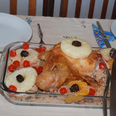 Almoço de Natal feito pela minha mamãe