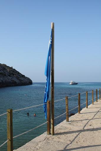 Bandera Blava a Cala Barques