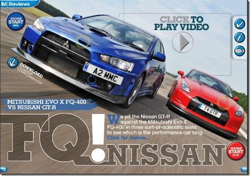 Mitsubishi Evo X FQ-400 vs Nissan GT-R