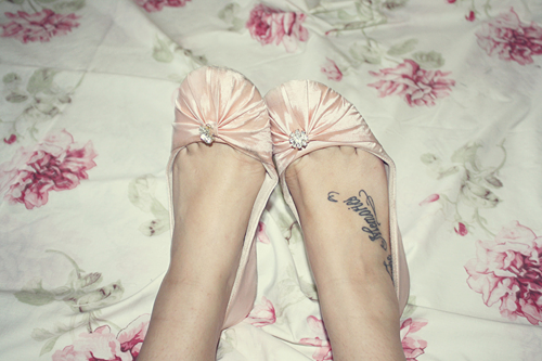 lettering tattoos on foot. love heart tattoos on foot.