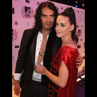 Katy Perry and Russel Brand