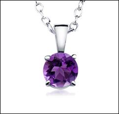 amethyst pendant free at Angara.com
