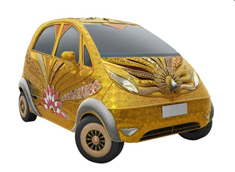 Tata Nano gold plus bejeweled