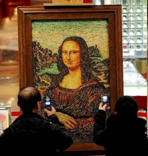 100,000 carats Mona Lisa painiting