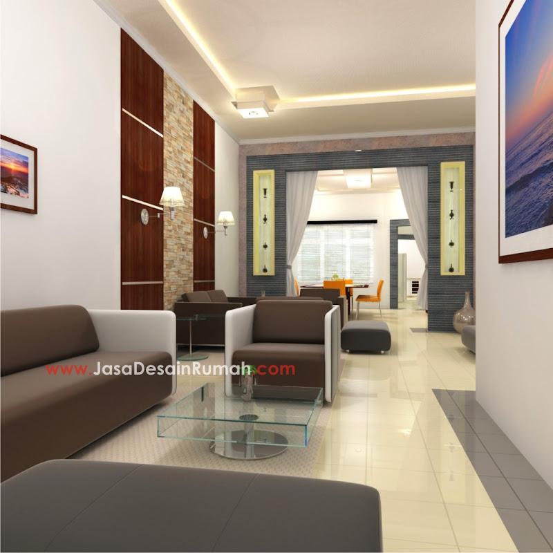 pekerjaan desain interior sebuah rumah tinggal di kota
