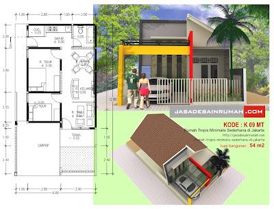 rumah tropis minimalis sederhana di jakarta jasa desain
