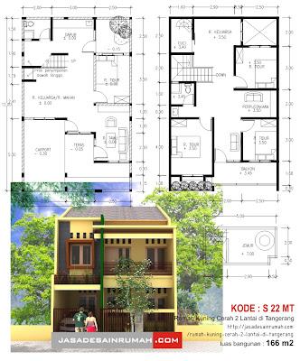 googles blog rumah kuning cerah 2 lantai di tangerang