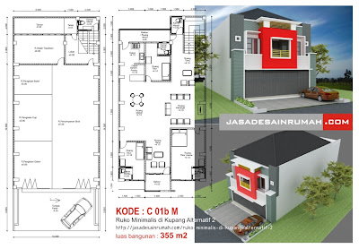 ruko minimalis di kupang alternatif 2 @ jasa desain rumah