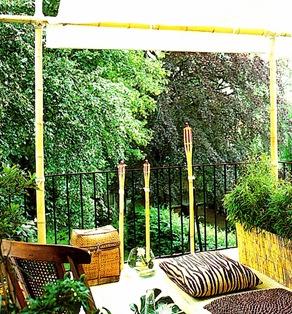 Arredare utilizzando bamb for Canne di bambu per pergolati