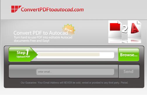 come convertire un pdf in dwg