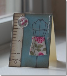 Designer Fabric Mini Card