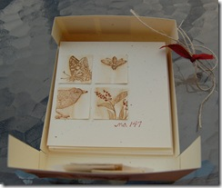 Cards Displayed in Open Box