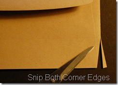 Step 3: Cut Triangle Lower Edge to Score Line