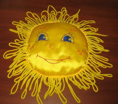 Шитье подушка солнышко