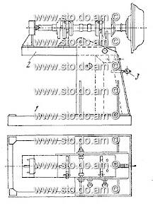 Стенд для разборки и сборки коленчатого вала с маховиком и сцеплением, модель Р-298