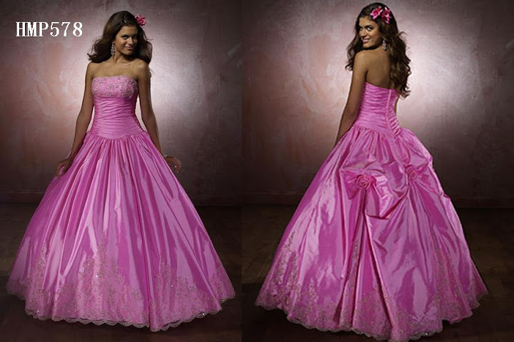 3 Pink Prom Dresses Gowns
