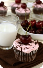 Chocolate Cherry Swirl Cupcakes with Cherry Buttercrem