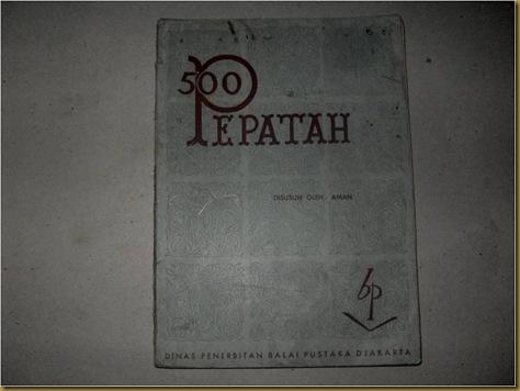 Buku 500 Pepatah
